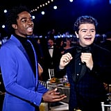 Caleb McLaughlin and Gaten Matarazzo at the 2020 SAG Awards