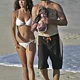 Brooke Burke and David Charvet vacationed in Cabo with daughter Heaven in June 2007.