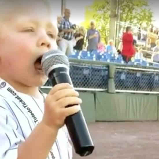 3-Year-Old Sings National Anthem at Auburn Doubledays Game