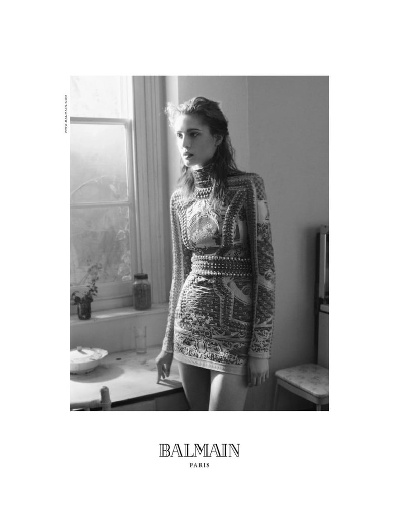 Striking black and white images take the stage for Balmain Fall 2012.