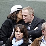 Pictures of Salma Hayek at French Open
