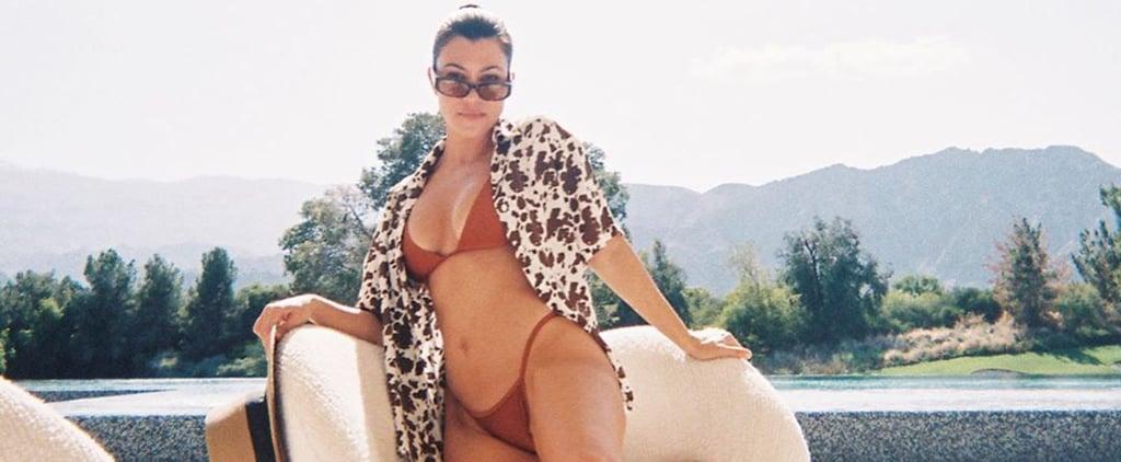Kourtney Kardashian's Cow-Print Bikini Cover-Up From Holiday