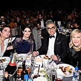 Annie Murphy, Emily Hampshire, Eugene Levy, and Catherine O'Hara at the 2020 Critics' Choice Awards