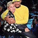 Ellen DeGeneres and Chance the Rapper