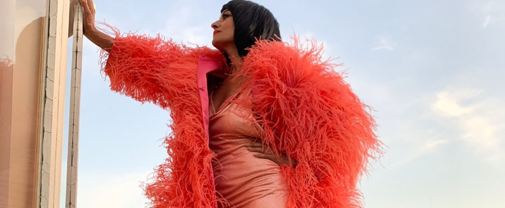 Tracee Ellis Ross Wearing Marc Jacobs Feather Coat