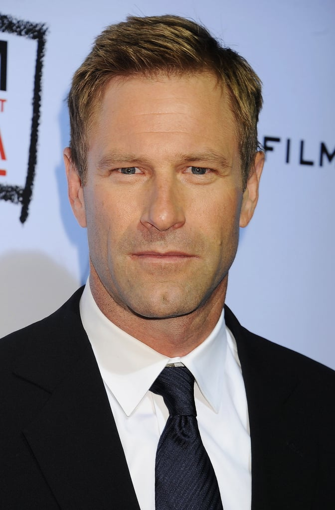 Aaron Eckhart went to a movie premiere at the LACMA.