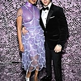 Priyanka Chopra Wearing a Purple Fendi Couture Dress at Cannes