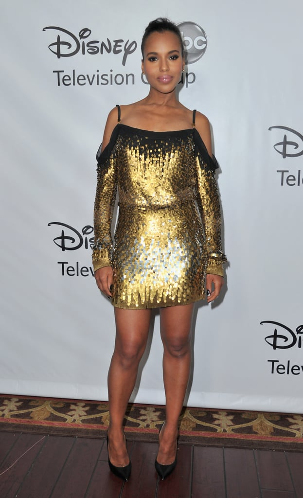 Kerry Washington stunned in a sequined Jenny Packham mini at an ABC event in January.