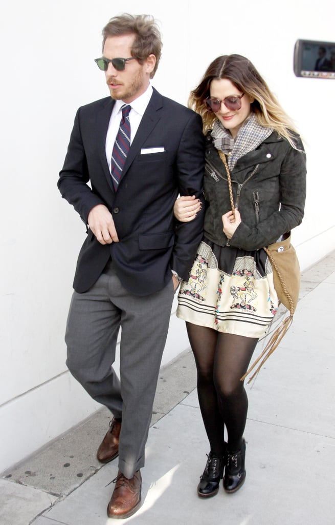 Drew Barrymore couldn't stop smiling as she strolled with rumoured new boyfriend Will Kopelman in Beverly Hills yesterday. The actress celebrated 36th birthday on Tuesday, and it looks like she's received the perfect present in the shape of art consultant Will. They've been spotted around town together this week, lunching at Joan's on Third on Monday. Drew's had an on-off relationship with Justin Long, but it seems she might have found a new love.