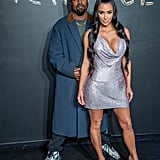 Kim Kardashian and Kanye West at Versace Fashion Show 2018