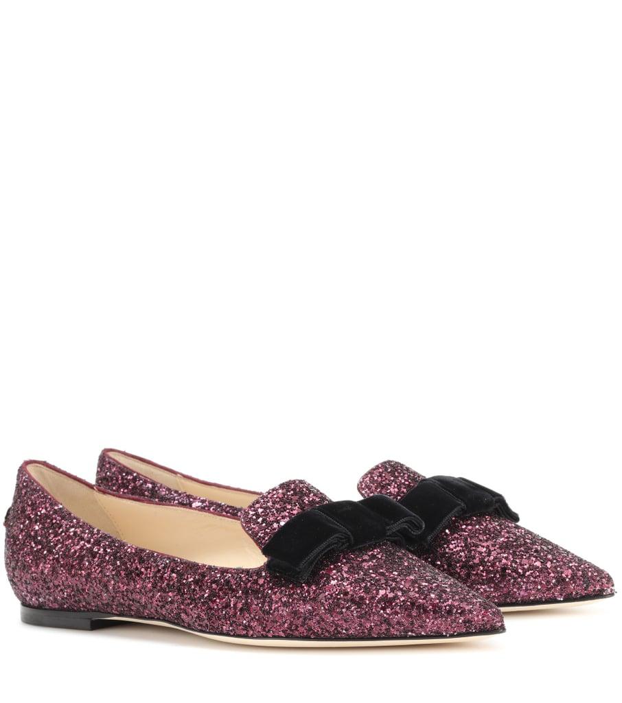 4eafa5127f3 Jimmy Choo Gala Slippers   Victoria Beckham Glitter Harper Slippers ...