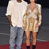 Kim Kardashian and Kanye West in Cannes in 2012