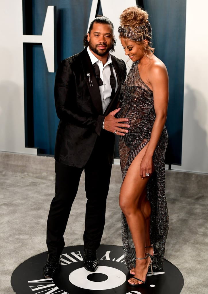 Russell Wilson and Ciara at the Vanity Fair Oscars Party