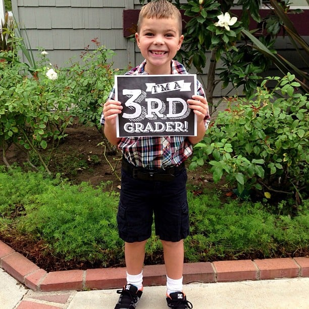 Take first-day-of-school grade photos.
