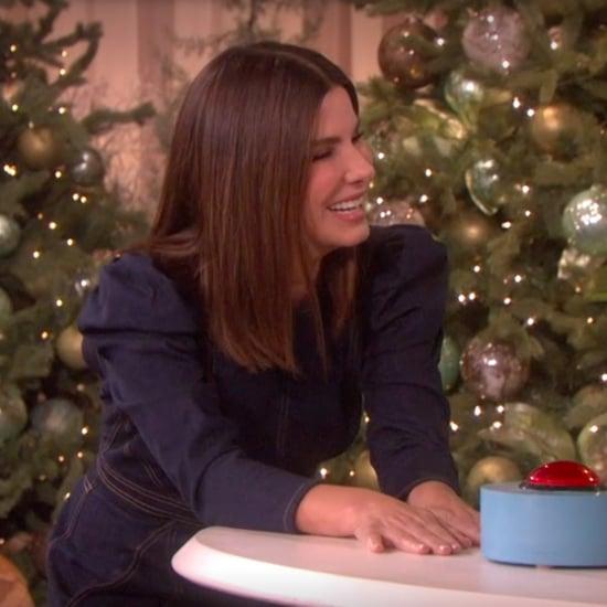 Sandra Bullock and Blake Shelton Play 5 Second Rule on Ellen