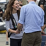 Will and Kate cracked each other up at Auckland Harbor in April.