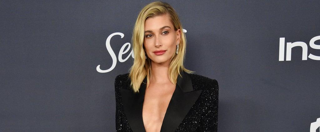 Hailey Baldwin's Sexy Dress at Golden Globes 2020