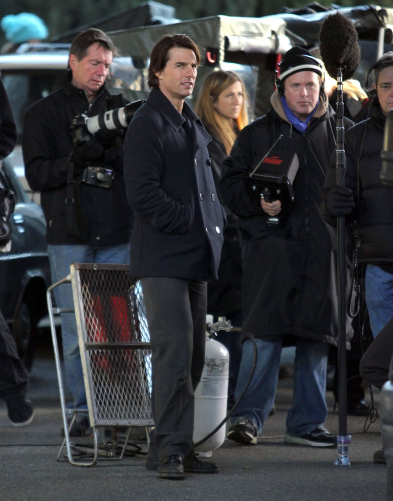Pictures of Tom Cruise Filming Mission Impossible 4 in