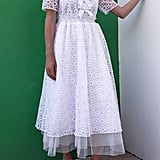 Halogen x Atlantic-Pacific Sheer Floral Bow Midi Dress