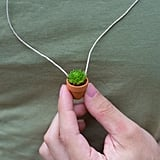 Mini Succulent Planter Necklaces