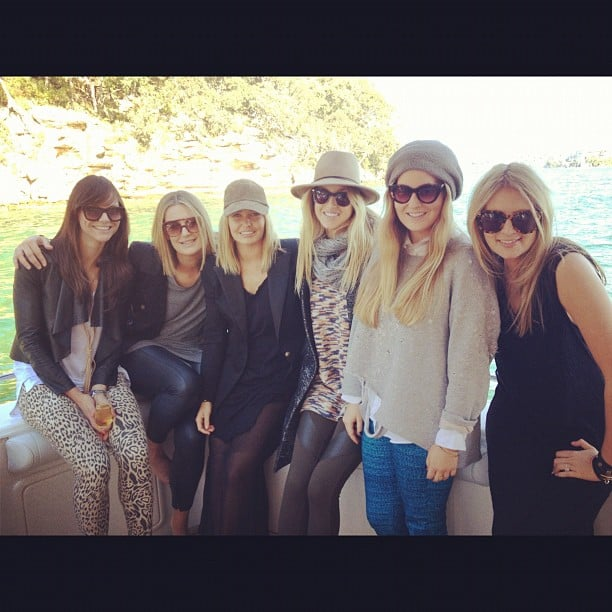 Lara Bingle and Whitney Port enjoyed a boat ride in Sydney with friends. Source: Instagram user whitneyeveport
