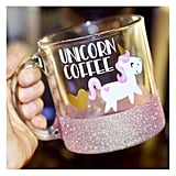 Unicorn Coffee Glitter Mug ($22)