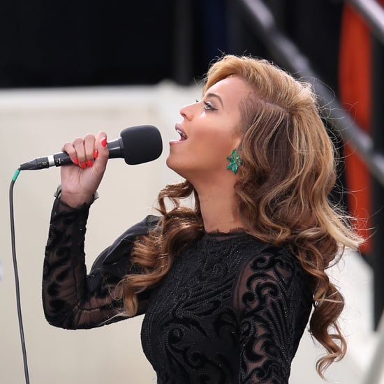 Pictures of Beyonce and Her Orange Nails at the Inauguration