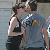 Anne Hathaway and Adam Shulman Kissing in LA October 2016