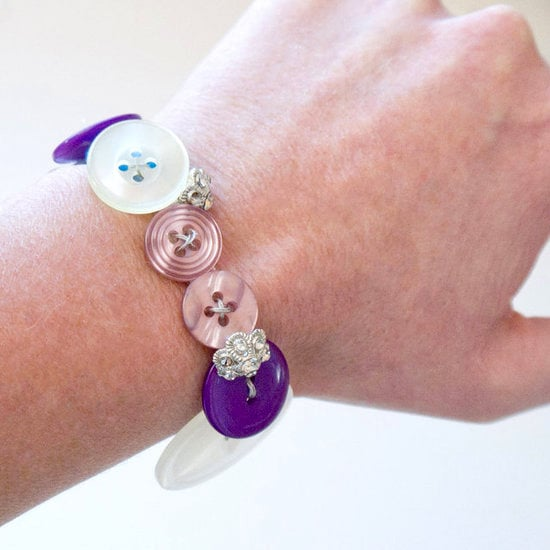 Easy Button Bracelet DIY