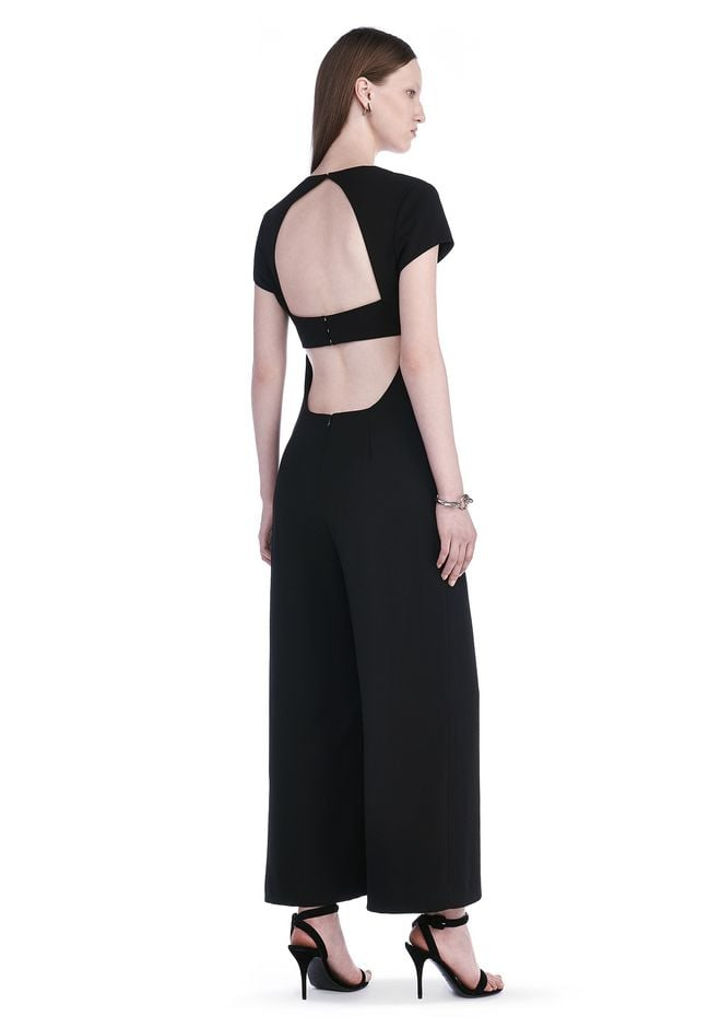 T by Alexander Wang Crepe Open Back Jumpsuit ($550)