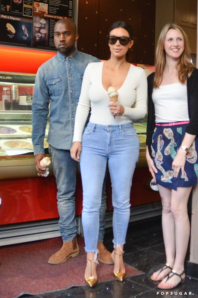 The couple grabbed ice cream on Sunday.