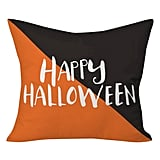 Deny Designs Black Zoe Wodarz Halloween Hipster Throw Pillow