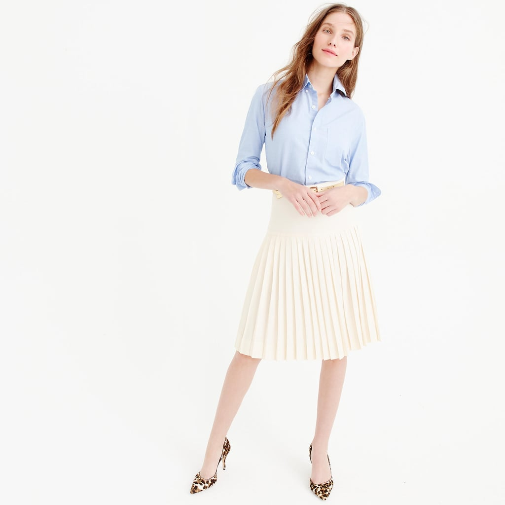 456a71657 Super Drop-Waist Pleated Skirt in 120s Wool ($168) | Pleated Fashion ...