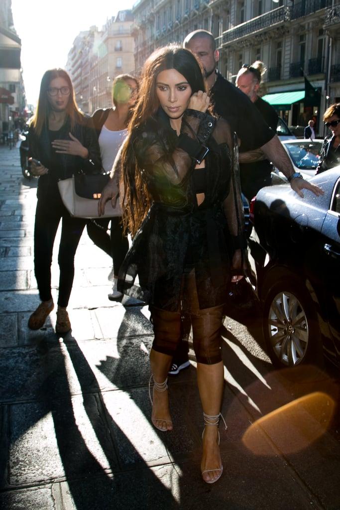 Kim Kardashian Out in Paris 2016