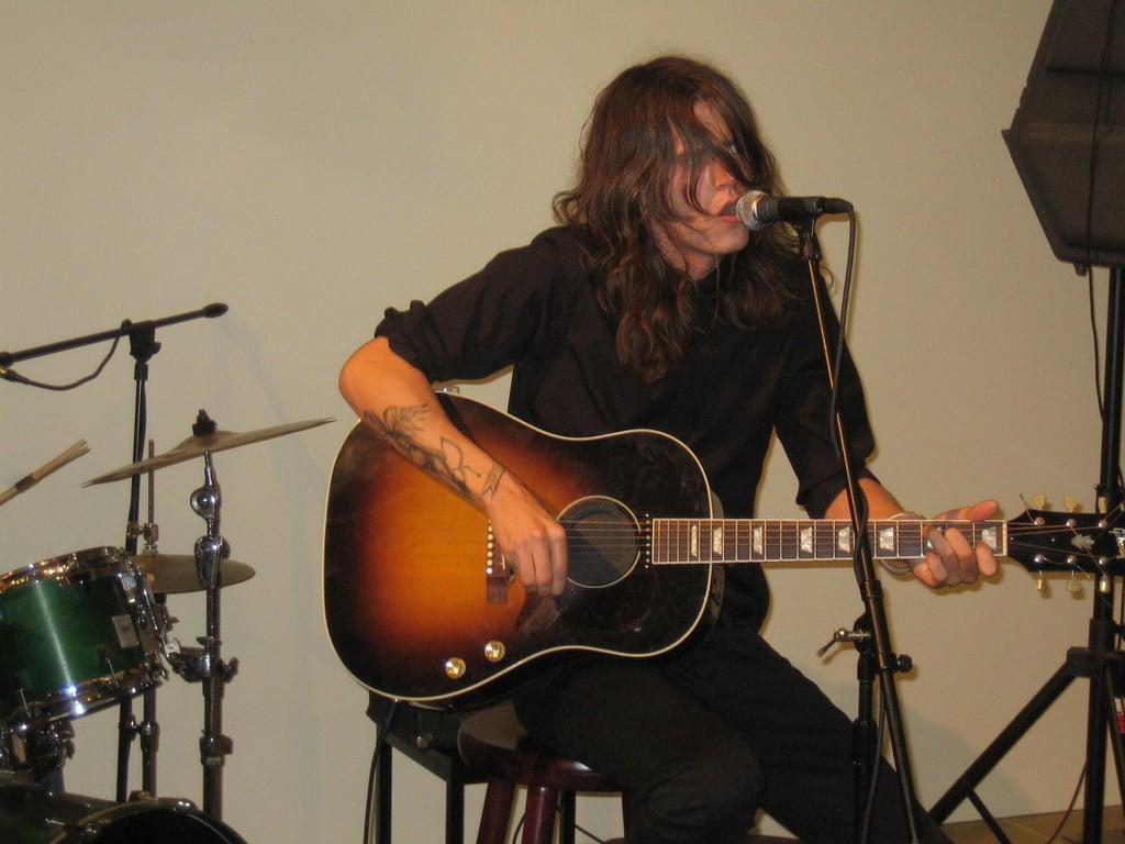 Jamie Burke performing at Calvin Klein