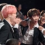 J-Hope, V, Jungkook, Jimin, Suga, Jin, and RM of BTS