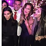 French partied with Khloé and her family.