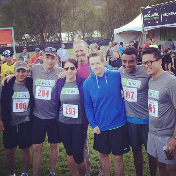 Viet Pham ran the event's 5K charity run with other chefs like Marcus Samuelsson and Richard Blais.  Source: Instagram user vphams