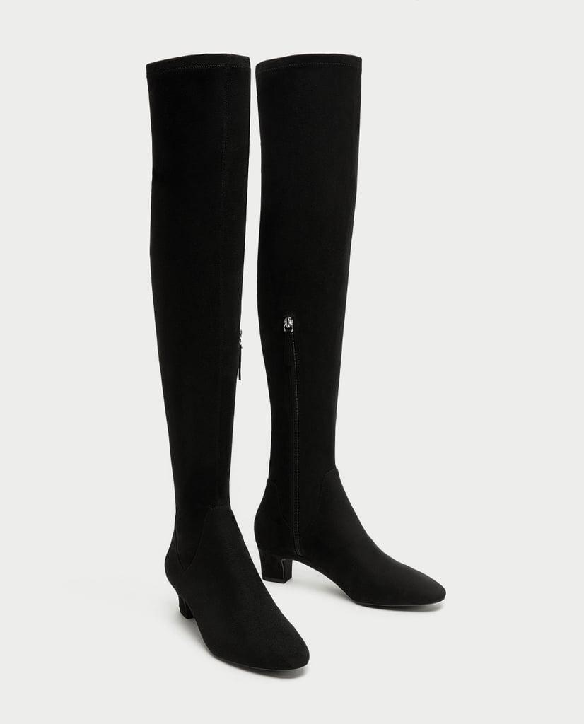 Zara Over-the-Knee High Heel Boots