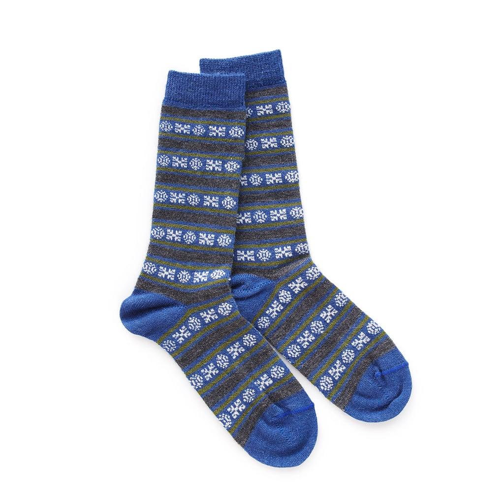 Alpaca Geo Stripe Socks