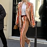 Gigi Hadid's Street Style at Paris Fashion Week