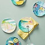 Blakely Made Sunscene Melamine Canape Plate Set