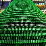 Whoever crafted this beautiful beer tree