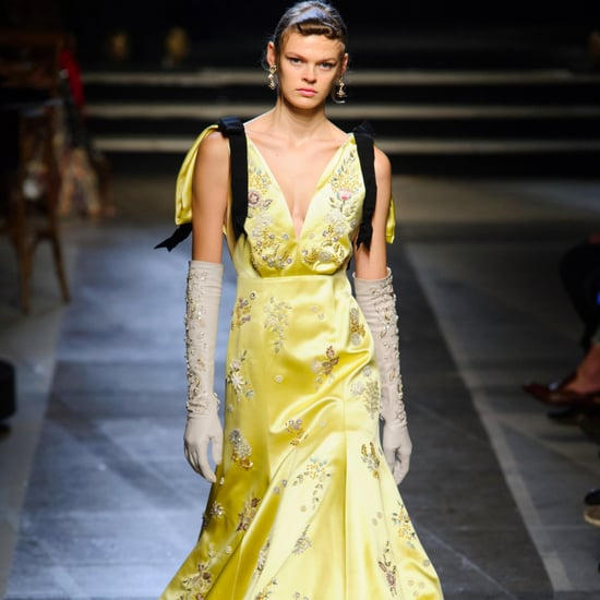Yellow Dresses on the Runway Spring 2018