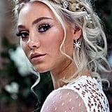Silver Star Bridal Earrings