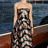 Naomi Watts looked lovely in a strapless floral Dolce & Gabbana midi-length dress at the For the Love of Cinema affair at Cannes.