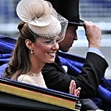 Prince William and Kate take a carriage ride after the service.