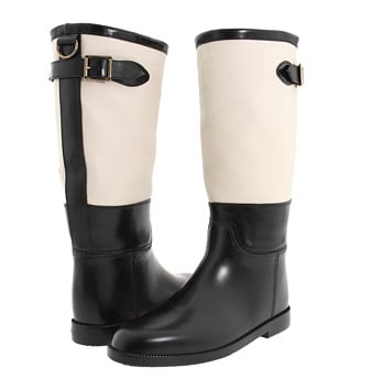 These Burberry rain boots ($276, originally $395) are the chicest rain boots we've ever spotted. The black and white combo is beyond chic.