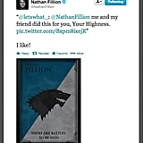 """Actor Nathan Fillion's house motto reads, """"There are battles to be won."""""""