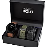Movado Bold Leather Strap Watch Set